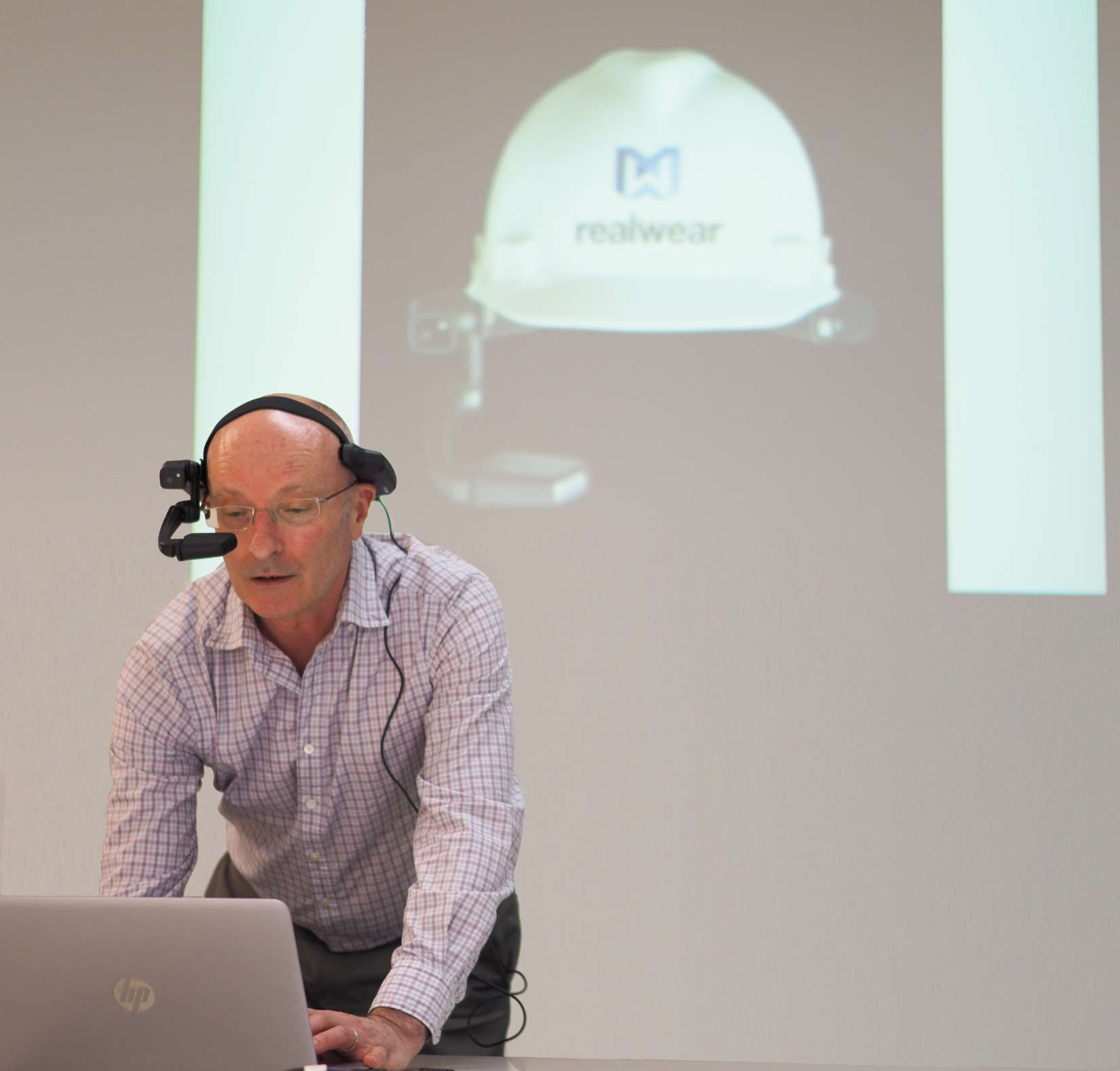 Asure Quality Harry Van Enckevort wearing an AR Headset
