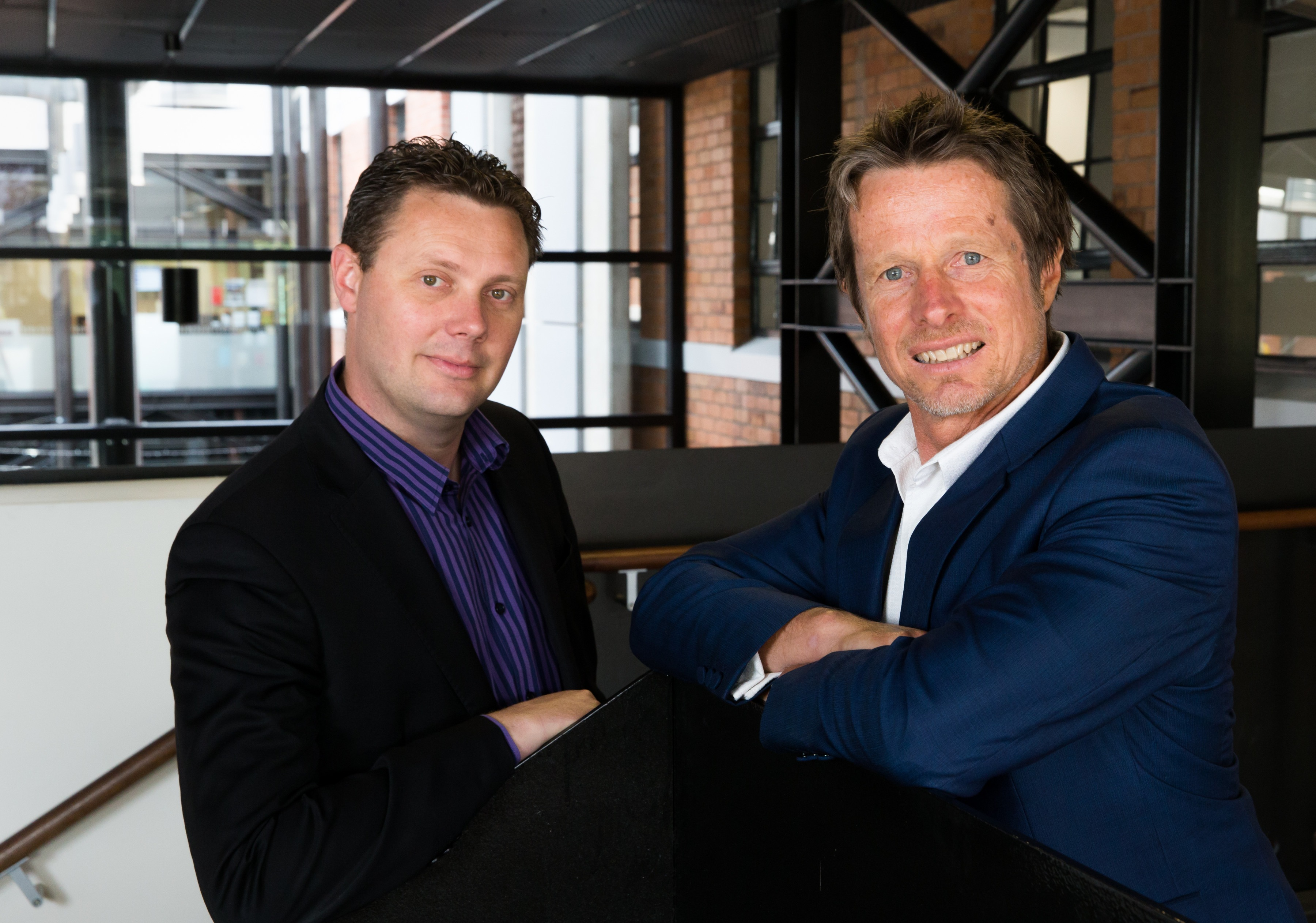 INNOVATORS: Company-X co-founders and directors David Hallett, left, and Jeremy Hughes.