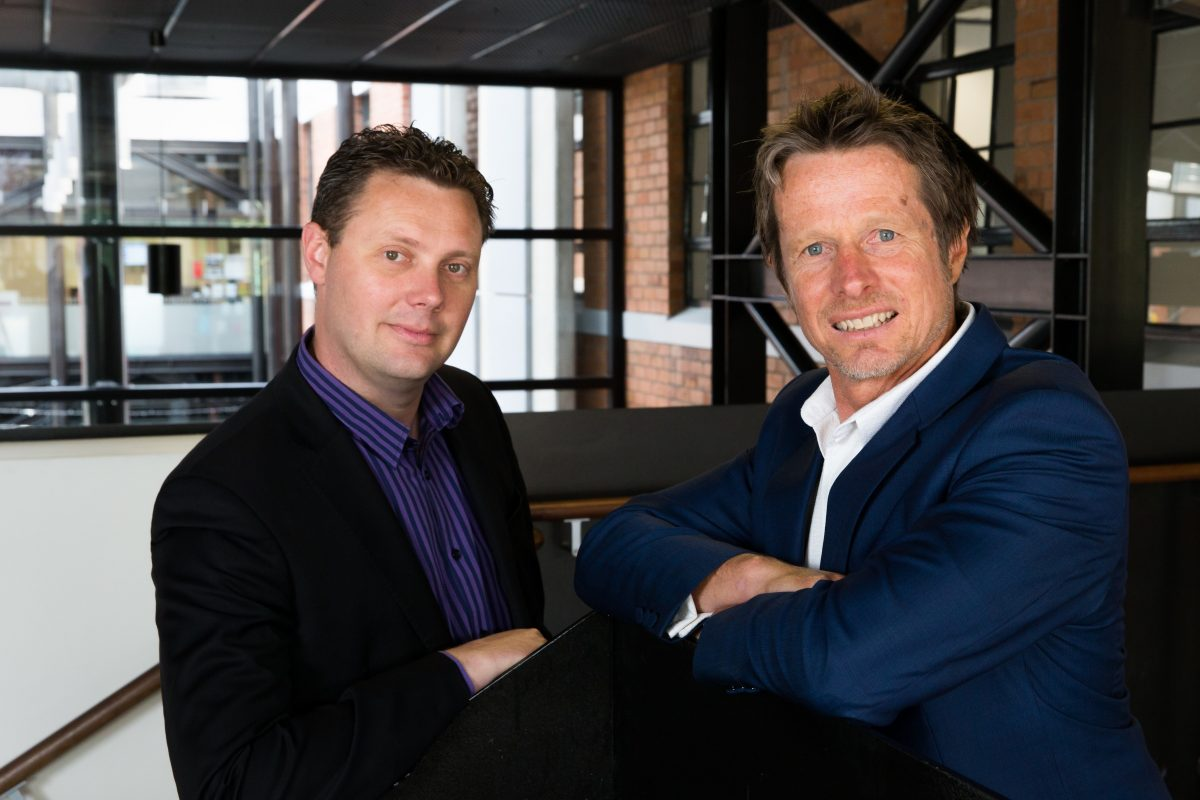 Company X co founders and directors David Hallett left and Jeremy Hughes