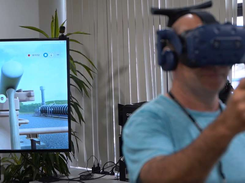 CUTTING EDGE Company X used virtual reality technology to replicate the high risk procedure for emergency venting of a ruptured gas pipeline