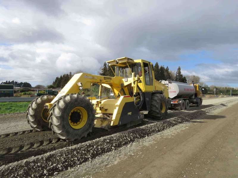 Road Pavement Under Construction At The Southern Interchange At Tamahere For Web