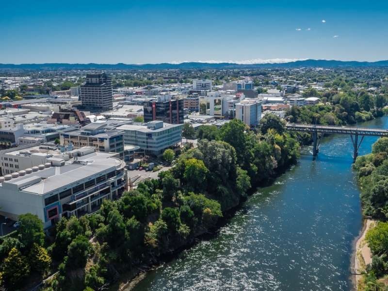 WS Hamilton City CBD and Waikato River
